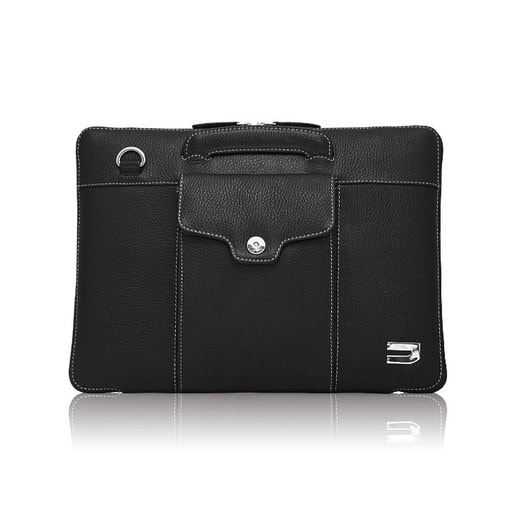 """Чехол-портфель Urbano для MacBook Air 13"""" кожаный, цвет: черный."""
