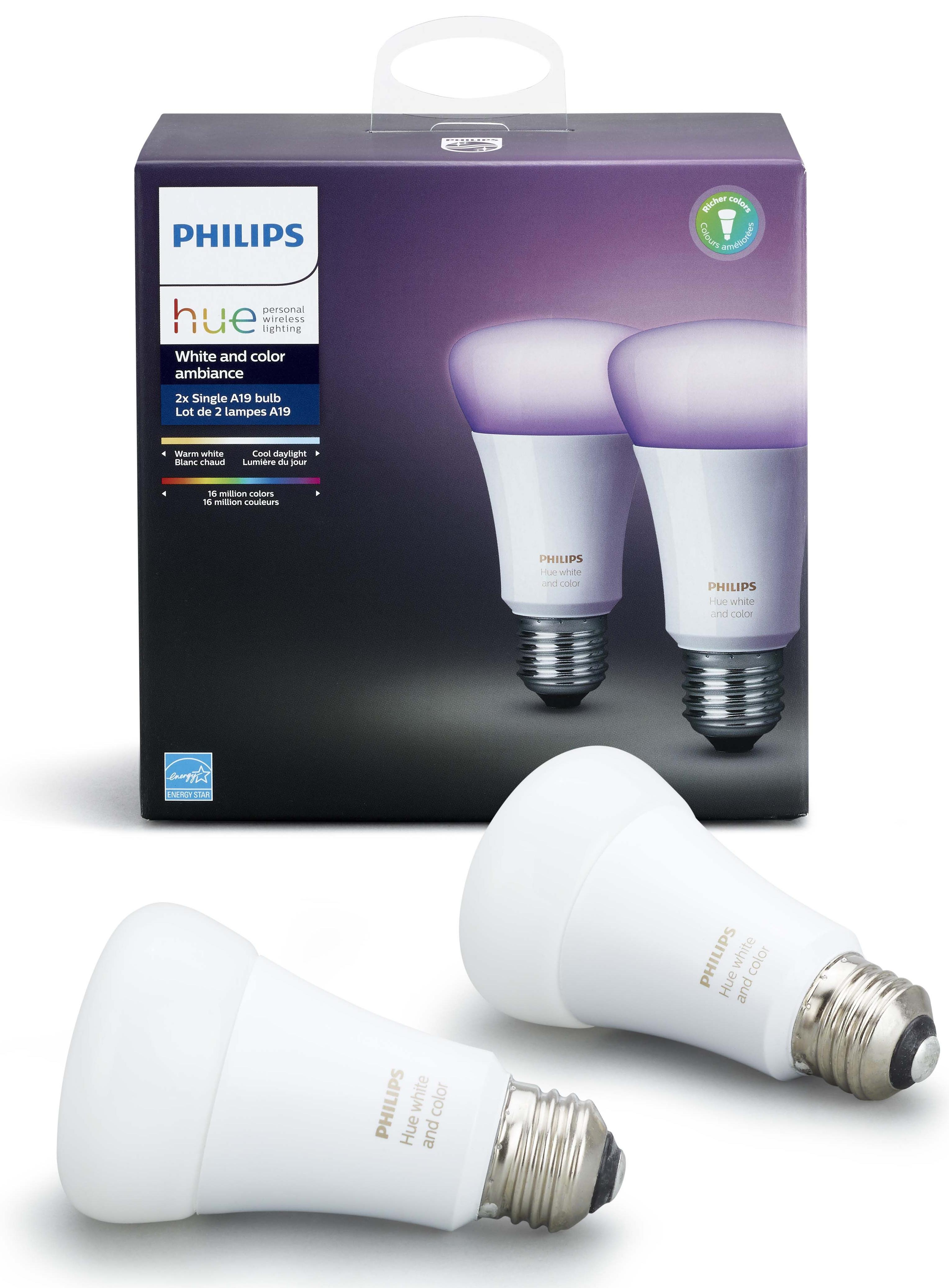 Умные лампы Philips Hue White and Color Ambiance E27 (734673T) 2шт.