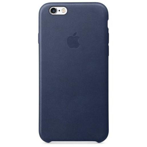 Чехол кожаный для Apple iPhone 6s Midnight Blue