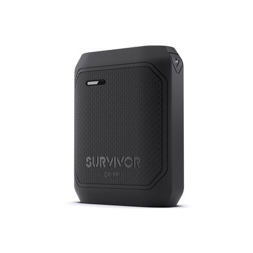 Внешний аккумулятор Griffin Survivor Rugged Power Bank Battery. Емкость 10050 мАч. Цвет черный.