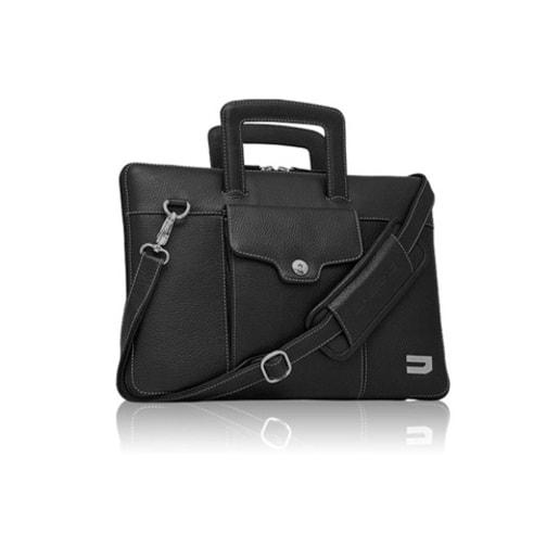 """Сумка Urbano Compact Brief для ноутбука MacBook Pro 15"""" с Touch Bar. Материал кожа. Цвет черный."""