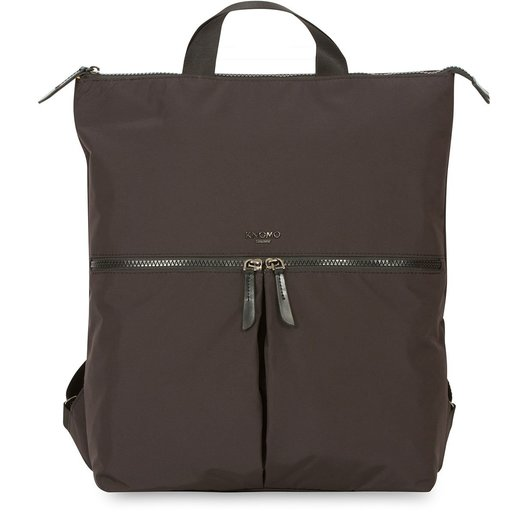 """Сумка-рюкзак Knomo Reykjavik для ноутбука до 15"""". Материал полиэстер, кожа натуральная. Цвет черный."""