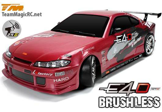 Team Magic Радиоуправляемая машина Дрифт 1/10 электро E4D S15 RTR (Brushless Spec.)
