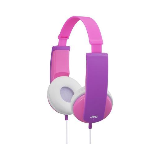 Наушники JVC проводные детские, модель HA-KD5-P-EF, серия KIDS. Цвет: розовый/фиолетовый JVC Наушники проводные детские, модель HA-KD5-P-EF, серия KIDS. Цвет: розовый/фиолетовый