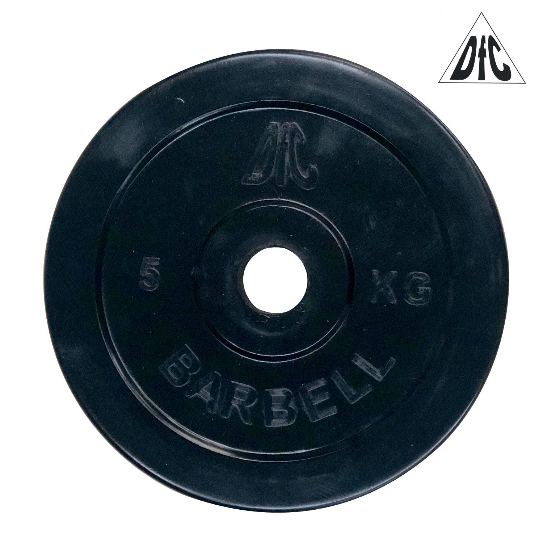 Диск обрезиненный DFC, чёрный, 31 мм, 5кг