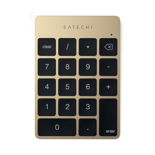 Беспроводной цифровой блок клавиатуры Satechi Aluminum Slim Keypad Numpad. Цвет золотой.