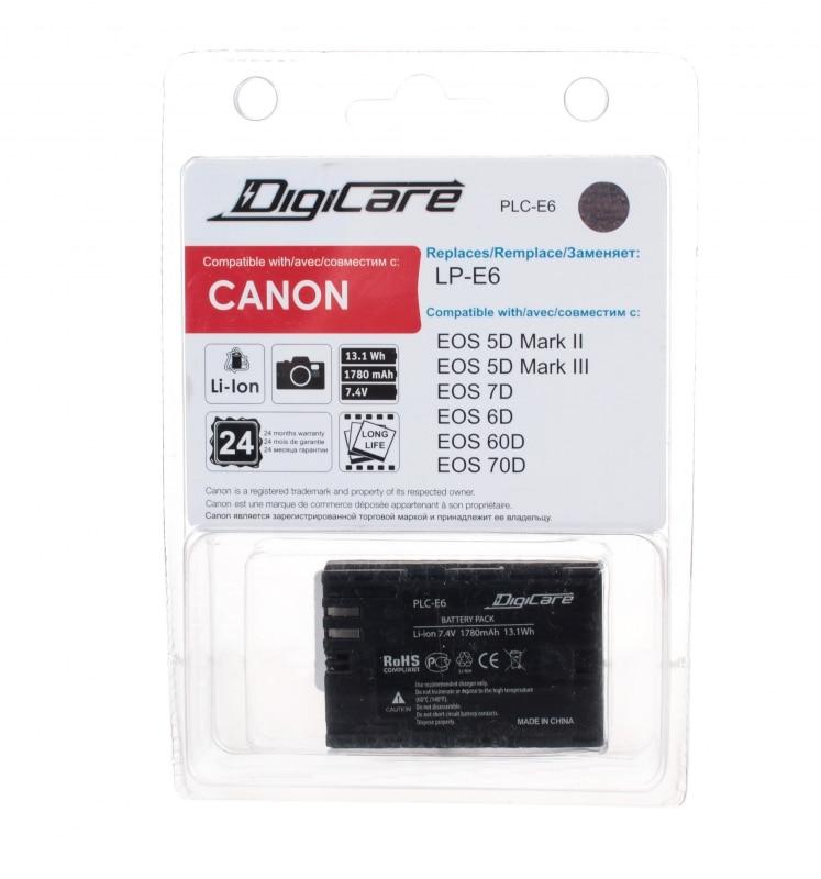 DigiCare PLC-E6 / LP-E6 / для EOS 6D, 60D, 7D, 70D, 5D mark II/III