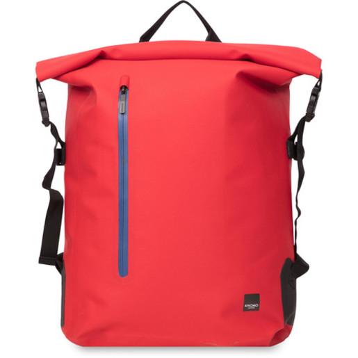 """Рюкзак водозащитный Knomo Cromwell для ноутбука до 14"""". Материал TPU полиуретан. Цвет красный."""