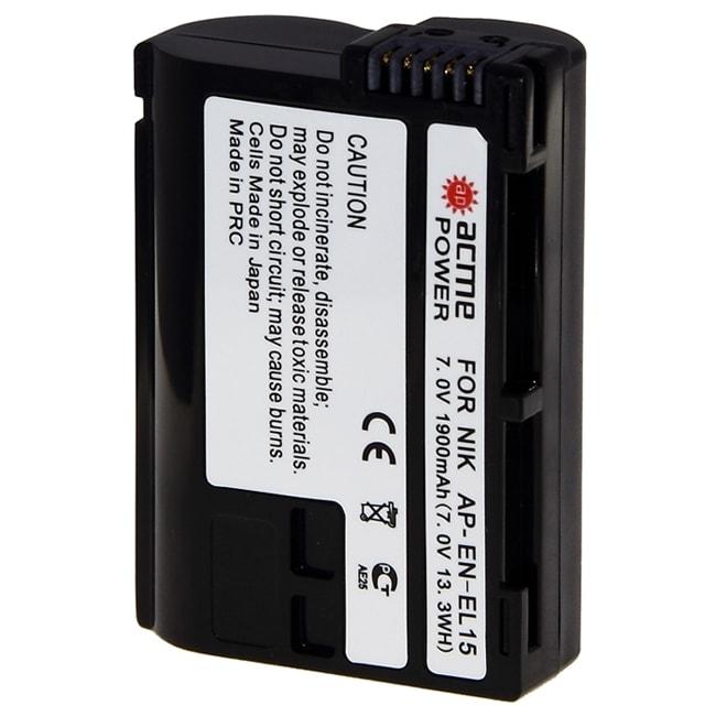 Acmepower EN-EL15 (7.0V, min 1600mAh, Li-ion) для Nikon D7000/ D800/ D600