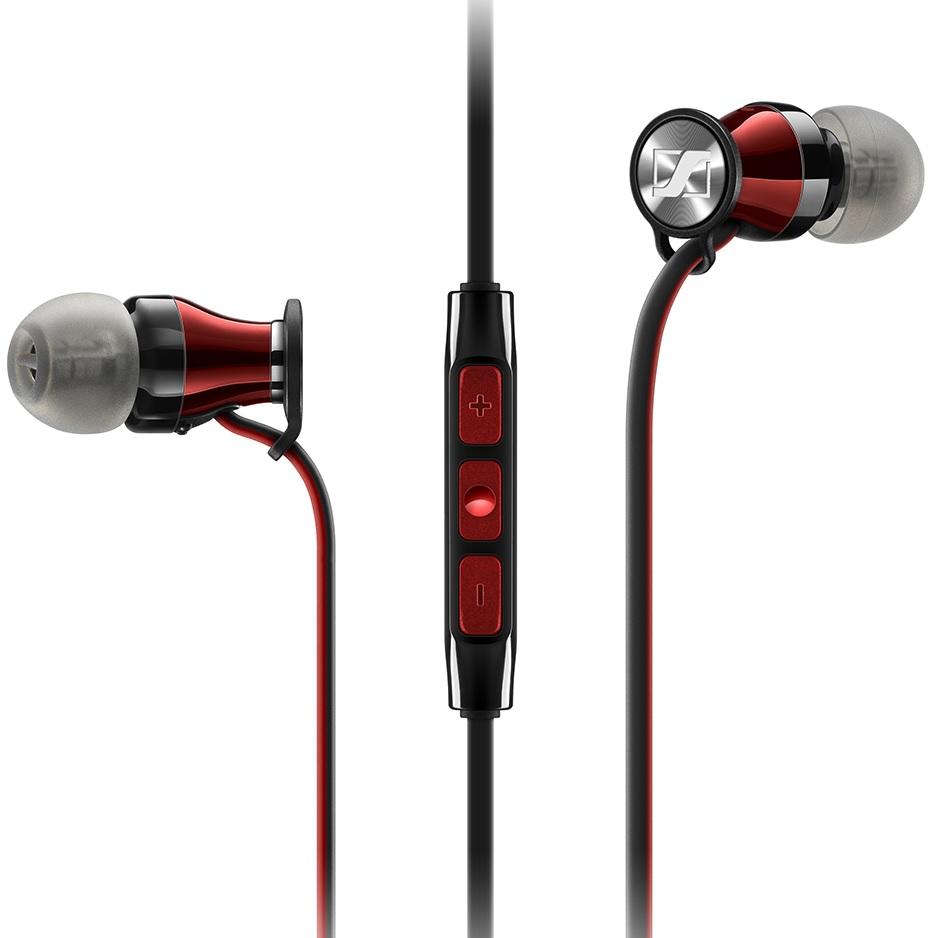 Sennheiser Momentum In-Ear (M2 IEG) - внутриканальные наушники с микрофоном (Black/Red)
