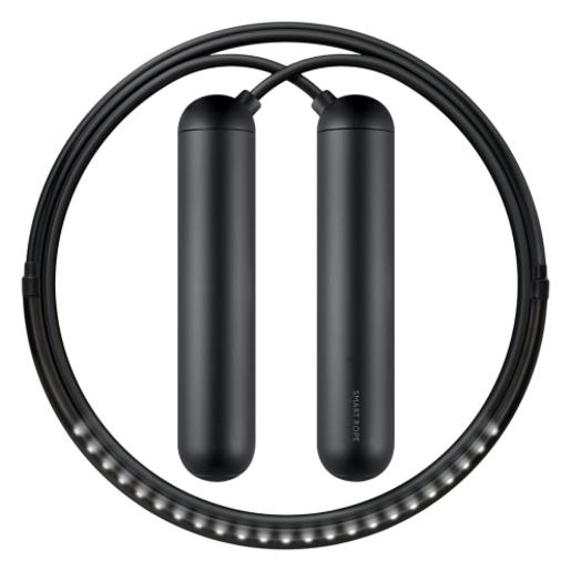 Умная скакалка Smart Rope, подключается к смартфону при помощи Bluetooth. Размер S, 243 см. (на рост 152 - 163 см). Цвет черный.