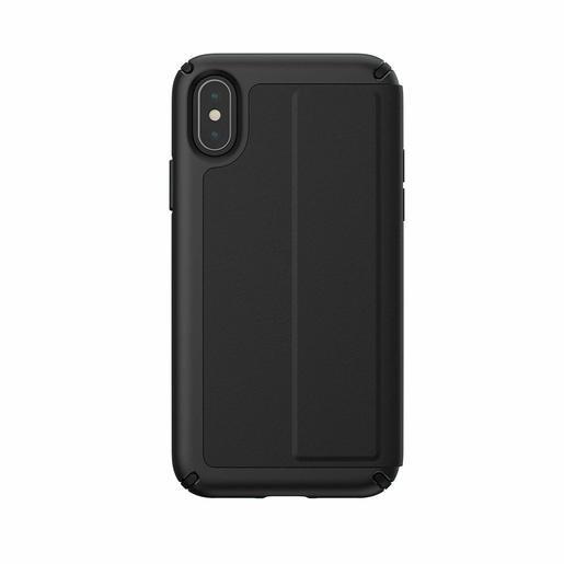 Чехол-книжка Presidio Folio Leather для iPhone XS/X. Материал пластик, полиуретан. Цвет черный.