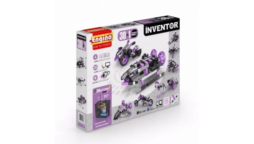 Конструктор Engino INVENTOR. Набор из 30 моделей с мотором. Приключения