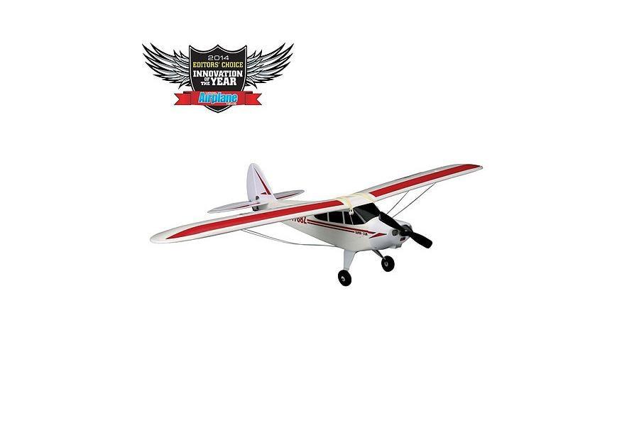 HobbyZone Радиоуправляемый Самолет - Super Cub S 1200мм RTF с системой стабилизации AS3X (Аккумулятор 1300мАч, ЗУ)