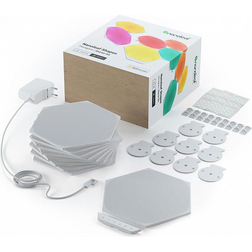 Светодиодный светильник Nanoleaf Shapes Hexagon Starter Kits. Состоит из 9 независимых светодиодных панелей.