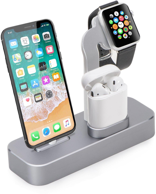 Док-станция COTEetCI Base19 (CS7201-GY) для Apple Watch/iPhone/AirPods (Space Gray)
