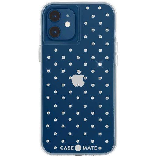 Чехол-накладка Case-Mate Sheer Gems для iPhone 12 mini, покрытый антимикробным материалом Micropel. Материал: поликарбонат, ТПУ. Отделан искусственными камнями. Кнопки выполнены из металла. Размер изделия: 13.7 x 7 x 1.2 см. Цвет: прозрачный.