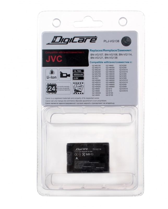 Аккумулятор DigiCare PLJ-VG138 / BN-VG138, VG121, VG114, VG108, VG107