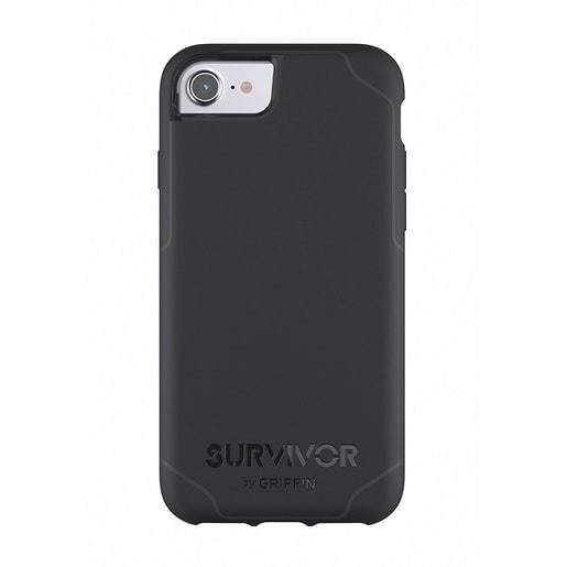 Чехол Griffin Survivor Journey для iPhone 7/6s/6. Материал пластик. Цвет черный/серый.
