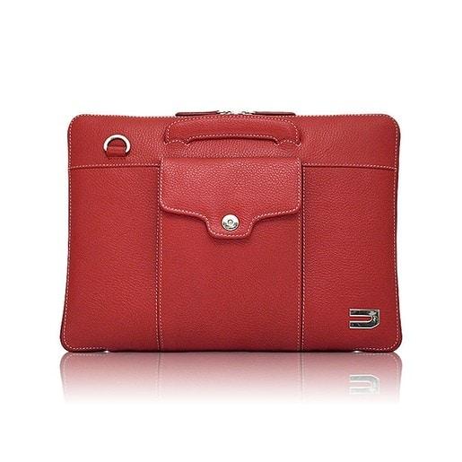 """Чехол-портфель Urbano для Macbook 13"""" кожаный, цвет: красный."""