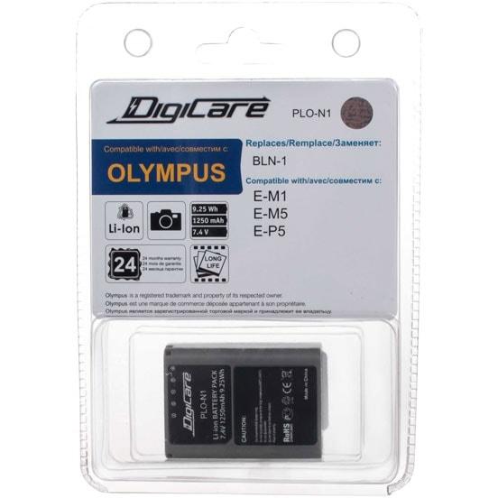 Аккумулятор для фотоаппарата DigiCare PLO-N1 / Olympus BLN-1, для OM-D E-M1, OM-D E-M5, PEN E-P5