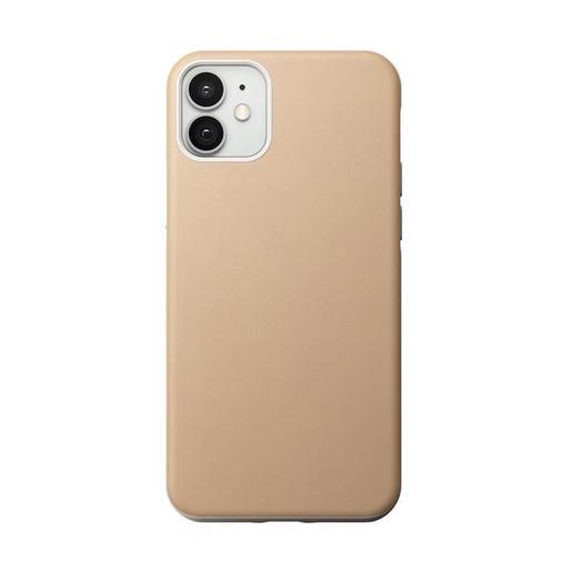 "Чехол Nomad Rugged Case для iPhone 12 & 12 Pro (6.1""). Материал верха: кожа натуральная. Цвет: бежевый. Nomad Rugged Leather Case for iPhone 12 & 12 Pro (6.1"") - Natural Leather"