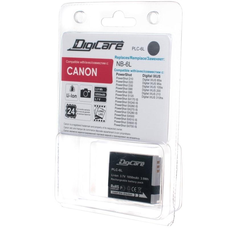Аккумулятор DigiCare PLC-6L / NB-6L / PowerShot SX270, SX280, SX500, SX260 HS, SX500, IXUS 310 HS