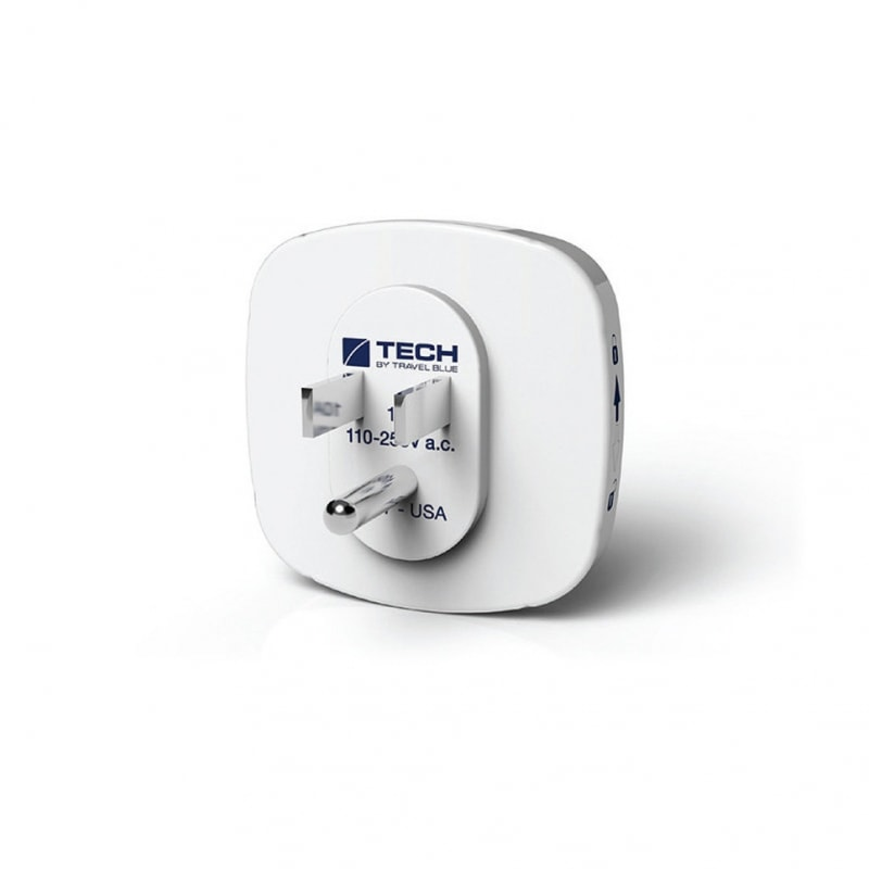 Сетевой адаптер-переходник Travel Blue EU-to-USA (945) с USB-портом для зарядки, цвет белый