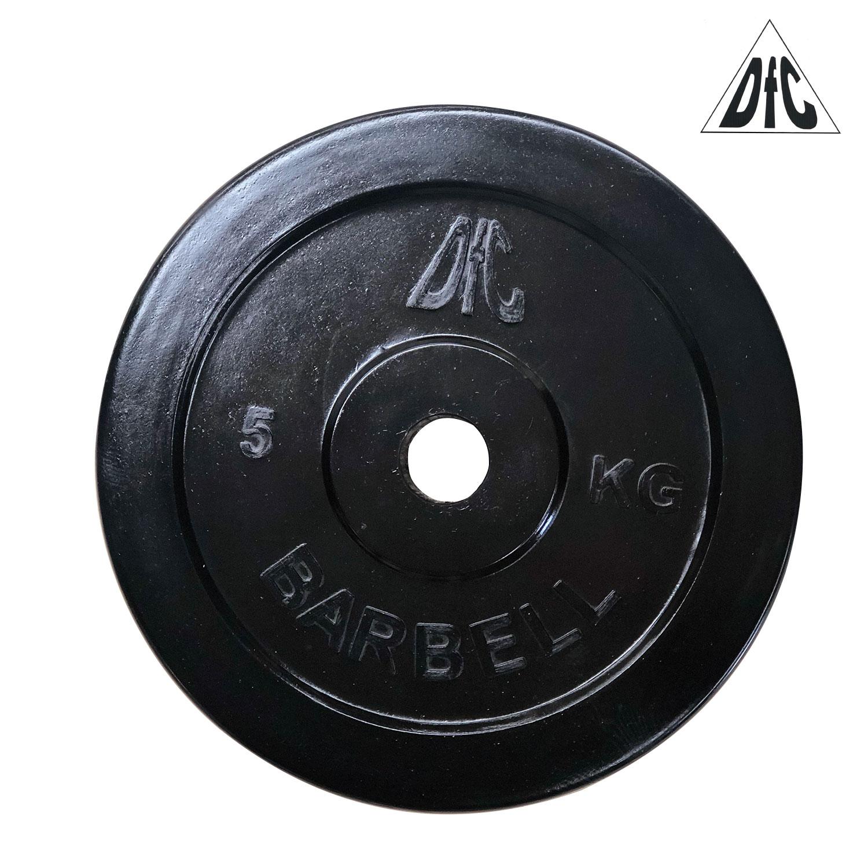 Диск обрезиненный DFC, чёрный, 26 мм, 5кг