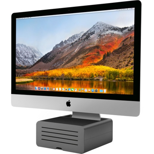 Подставка Twelve South HiRise Pro для iMac и Apple Display, а также для других мониторов. Материал сталь. Цвет черный/серебристый.