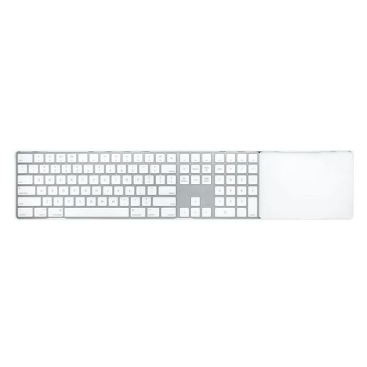 Док-станция Twelve South MagicBridge Extended, позволяющая объединить клавиатуру и трекпад в одно пространство. Материал: пластик. Цвет: белый. Twelve South MagicBridge Extended - White