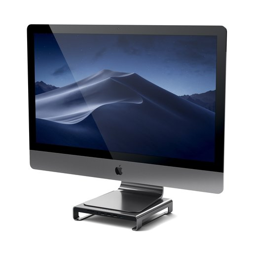 Подставка-док станция Satechi Type-C Aluminum iMac Stand with Built-in USB-C Data для iMac. Цвет серый космос