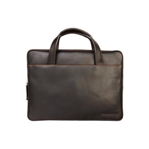 """Сумка dbramante1928 Silkeborg для ноутбуков 13"""" дюймов. Материал кожа. Цвет темно-коричневый."""