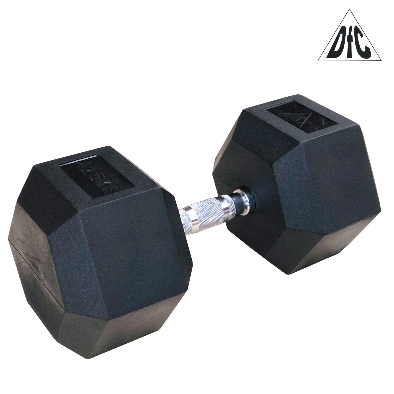 Гантели DFC гексаг. обрезиненная пара 42.5кг DB001-42.5