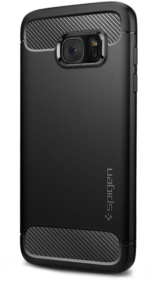 Spigen Rugged Armor (556CS20033) - чехол-накладка для Samsung Galaxy S7 Edge (Black)