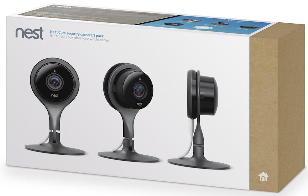 Комплект камер видеонаблюдения Nest Cam Security Camera 3 Pack (Black)