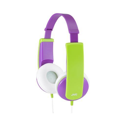 Наушники JVC проводные детские, модель HA-KD5-V-EF, серия KIDS. Цвет: фиолетовый/зеленый JVC Наушники проводные детские, модель HA-KD5-V-EF, серия KIDS. Цвет: фиолетовый/зеленый
