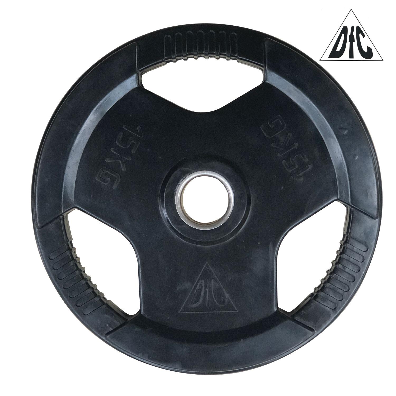 Диск обрезиненный DFC, чёрный, 51 мм, 15кг