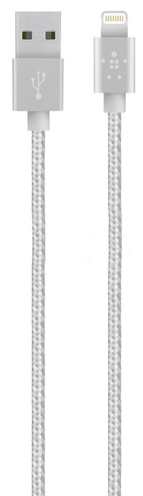 Кабель Belkin Mixit Metallic Lightning to USB Cable (Silver)