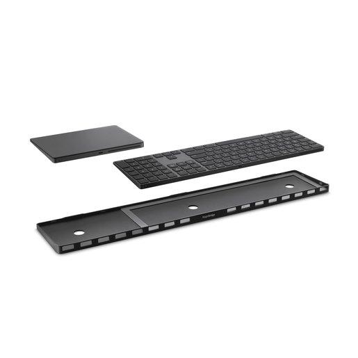 Док-станция Twelve South MagicBridge Extended, позволяющая объединить клавиатуру и трекпад в одно пространство. Материал: пластик. Цвет: черный. Twelve South MagicBridge Extended - Black