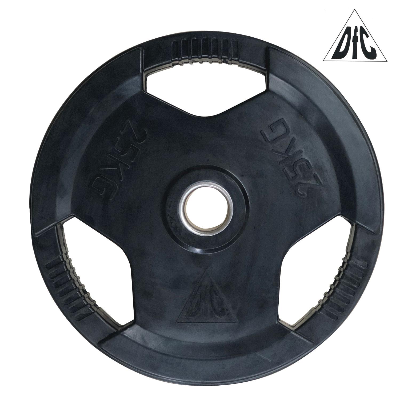 Диск обрезиненный DFC, чёрный, 51 мм, 25кг