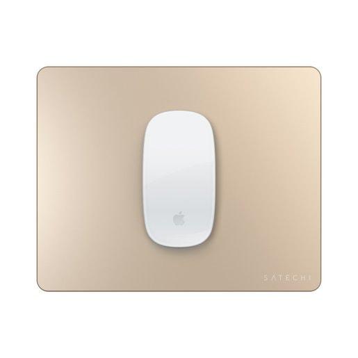 Коврик Satechi Aluminum Mouse Pad для компьютерной мыши. Материал алюминий. Размер 24x19x0,5 см. Цвет золотой.