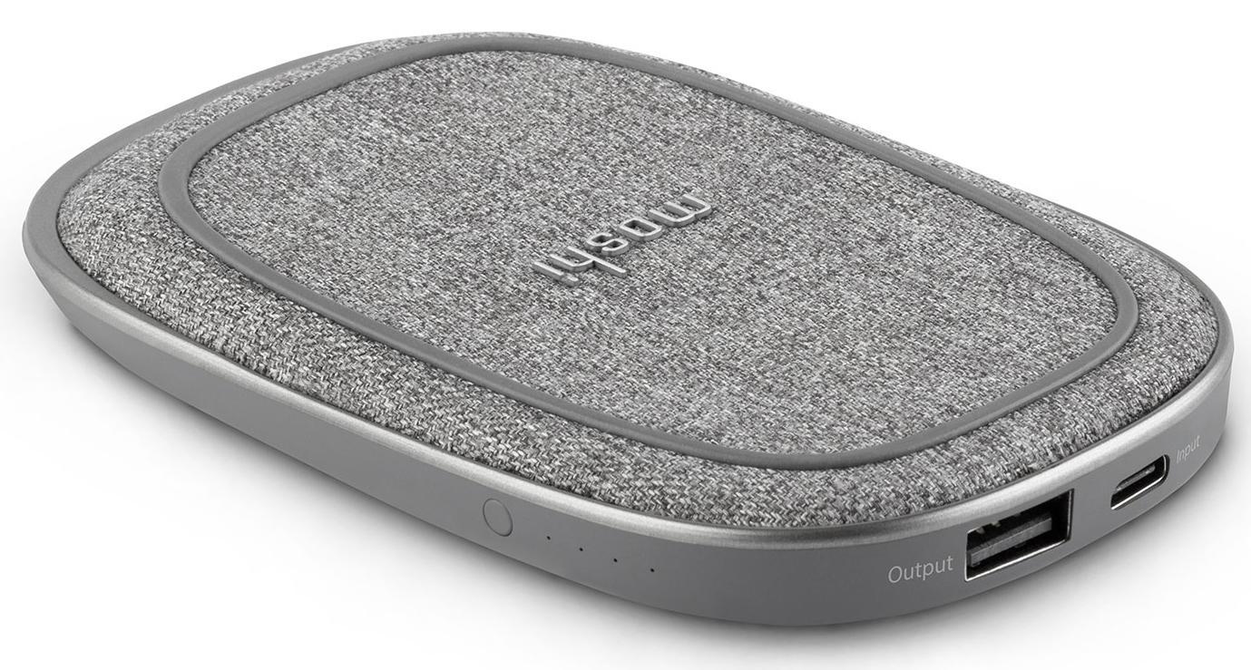 Внешний аккумулятор Moshi Porto Q 5K 5000mAh (99MO022213) с беспроводной зарядкой (Grey)