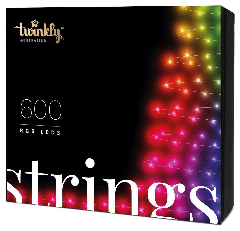 Smart-гирлянда Twinkly Strings RGB 600 (TWS600STP-BEU)