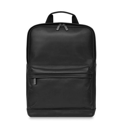 """Рюкзак Knomo Brackley для ноутбука до 15"""". Материал кожа натуральная. Цвет черный."""