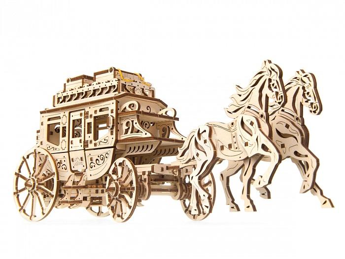3D-пазл UGears Почтовый дилижанс (Stagecoach)