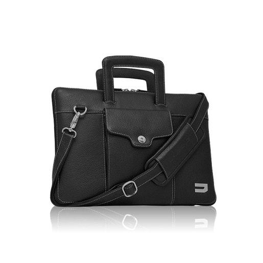 """Чехол-портфель Urbano для Macbook 13"""" кожаный, цвет: черный."""