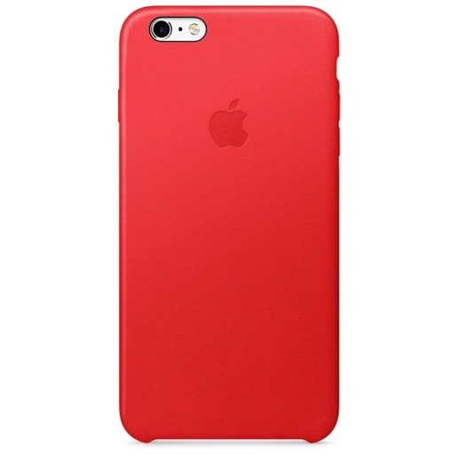 Чехол кожаный для Apple iPhone 6s Plus Leather Case RED