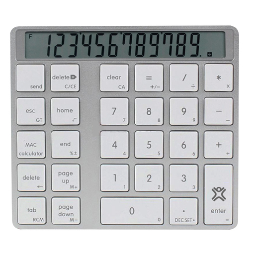 Цифровой блок Numpad клавиатуры XtremeMac Bluetooth Numpad Calculator.