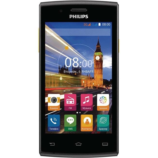 Смартфон Philips S307 Black Yellow